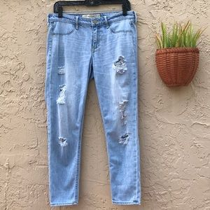Abercrombie & Fitch Ripped Straight Leg Jeans